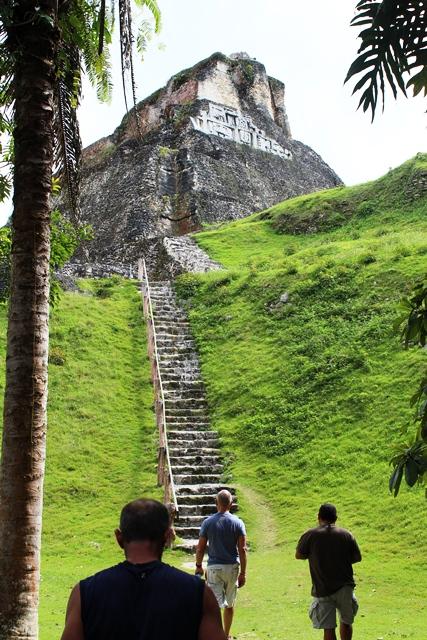 Xunantunich Walk to Top of Temple Chabil Mar Resort Belize