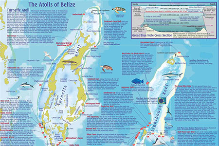 belize atolls map
