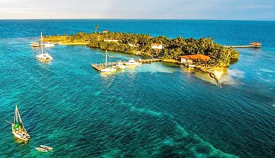 Aerial for Rates at Hatchet Caye