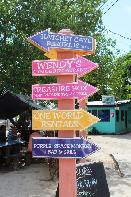 Signs of Placencia Village Chabil Mar Belize Resort