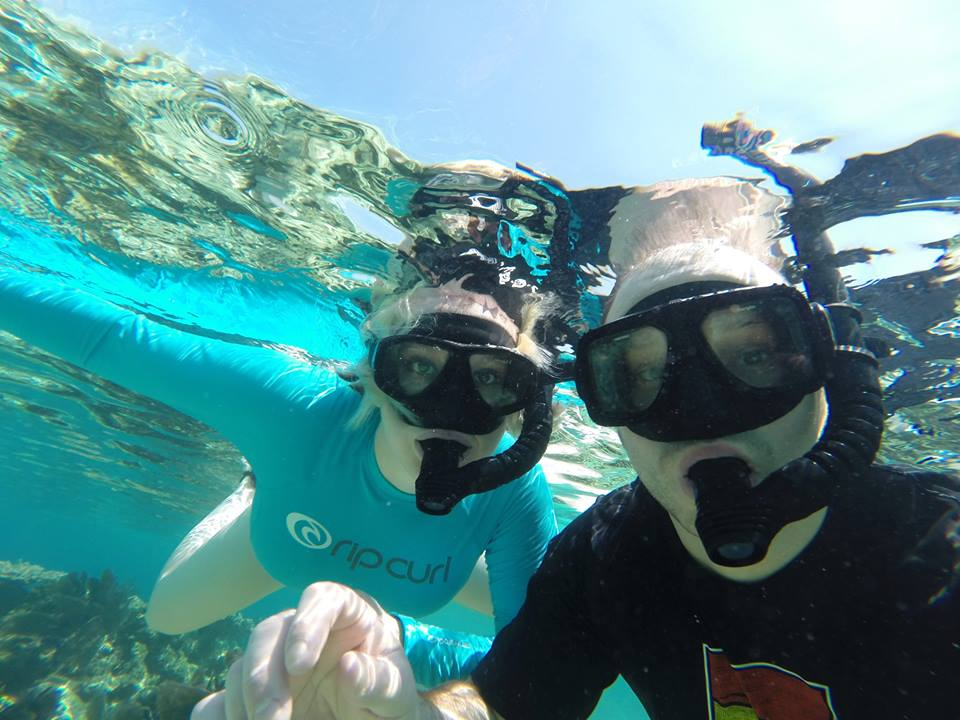 Snorkeling Selfie Chabil Mar - Belize Resort