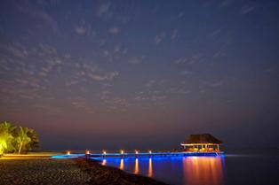 Pier at Night Beach Level Mike Walker Chabil Mar Belize Resort