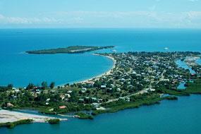 aerial placencia village