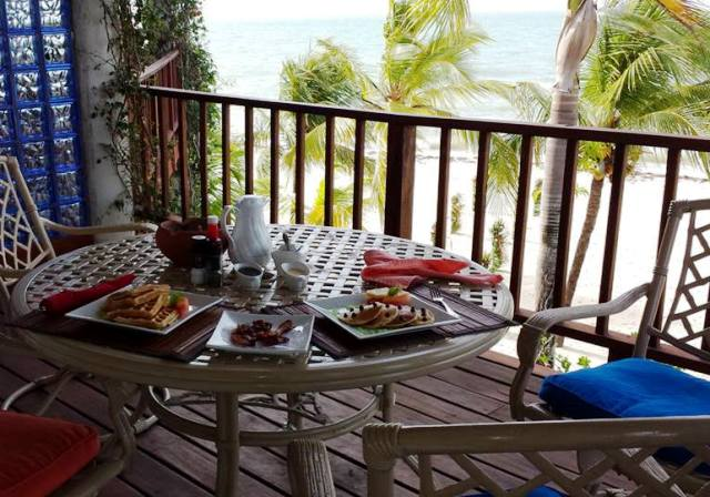 Elizabeth Breakfast 650 with a view Chabil Mar Belize Resort