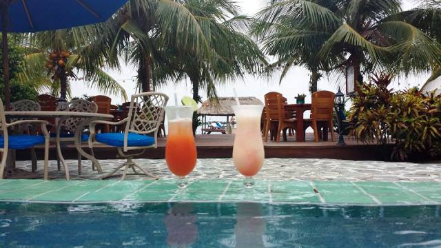 Elizabeth Cocktails at Pool 650 Chabil Mar Belize Resort