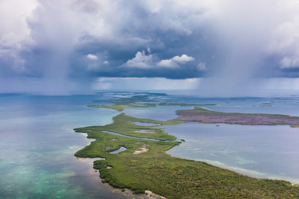 Turneffe Atoll in the Rain