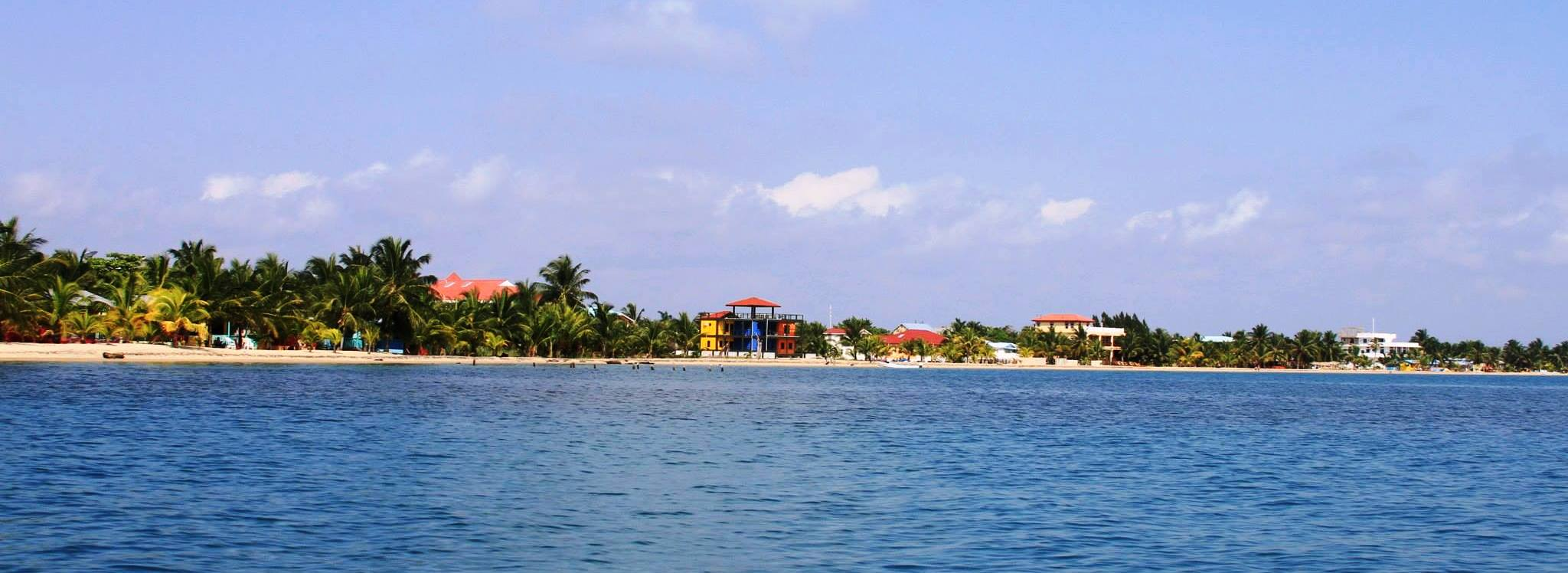 Placencia Village from Caribbean 3 Chabil Mar - Belize Resort