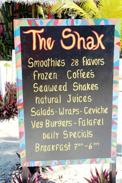 Shak Menu Chabil Mar Resort Belize