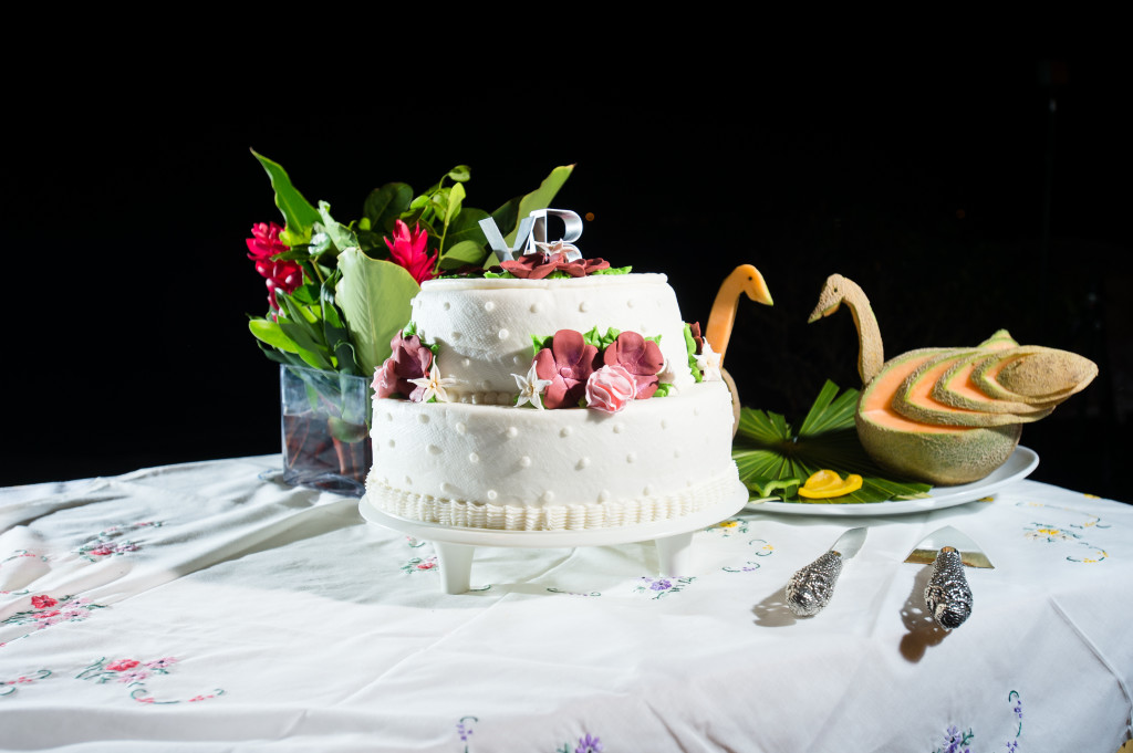 Cake & Fruit Wedding Chabil Mar Resort Belize