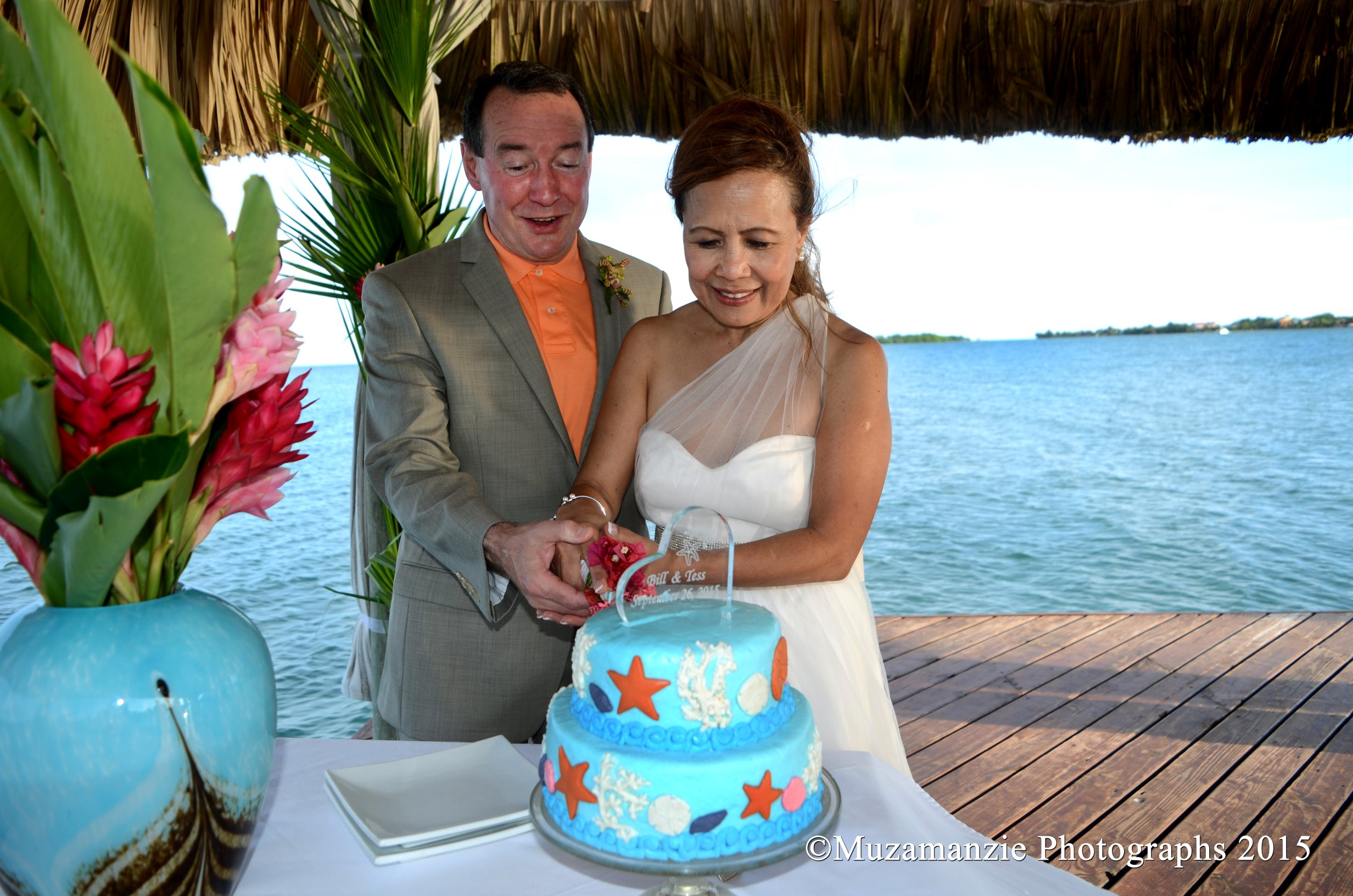 Cake Cutting Taylor Wedding Chabil Mar Resort Belize