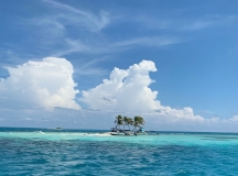 Catching a Magnificent Scene of Silk Caye on a Belize Vacation Today
