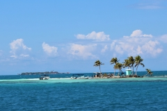 Silk Caye in the Foreground - Raye Caye in the Background
