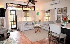 Villa Living Room - Each Villa is Individually Designed - Chabil Mar Resort Belize