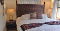 Extraordinary Carved Headboard by Local Carver - Frank T