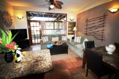 In Addition to Your Bedroom Each Villa includes a Living Area and Modern Amenities
