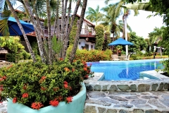 Palm Tree Pool Entrance from Honeymoon Suite