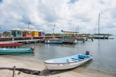Pier Plaza and Marina at the end of the 16 mile-long Placencia Peninsula in the Village