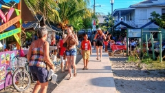 The Sidewalk in Placencia Village - Once listed in the Guinness Book of World Records as the Narrowest Main Street