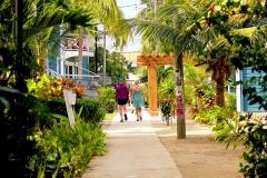 A stroll along the sidewalk in Placencia Village