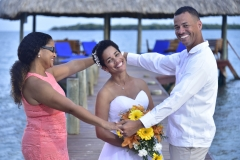 Happy Bride - Chabil Mar Beach Wedding
