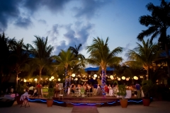 A Wedding Reception at Dusk . . . Beach-Side Chabil Mar