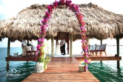 Wedding Ceremony on Pier at Chabil Mar - A Private Event